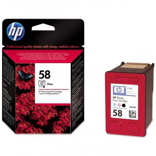 originální HP 58 (C6658A) foto barevná cartridge originální inkoustová náplň pro tiskárnu HP OfficeJet 6110