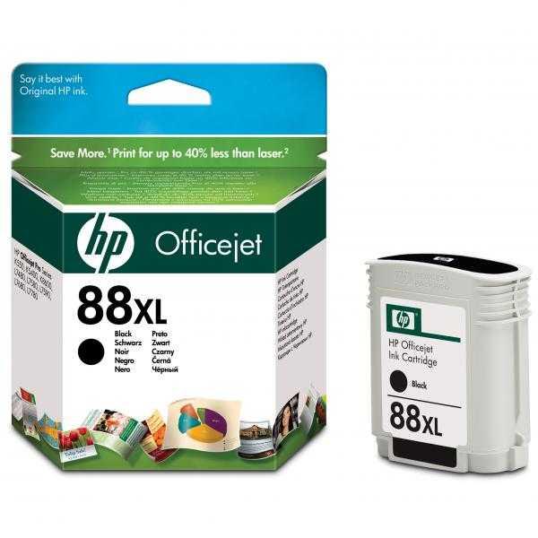 originální HP88 BK C9396A black cartridge černá inkoustová originální náplň pro tiskárnu HP OfficeJet Pro L7780
