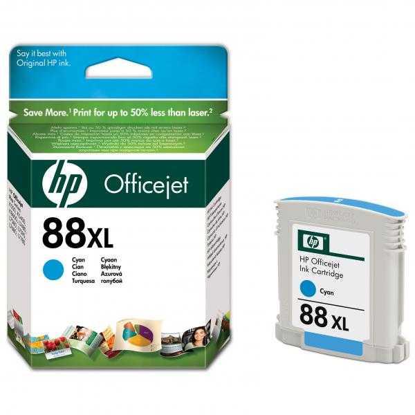 originální HP88 cyan C9391A cartridge modrá azurová inkoustová originální náplň pro tiskárnu HP OfficeJet Pro L7780