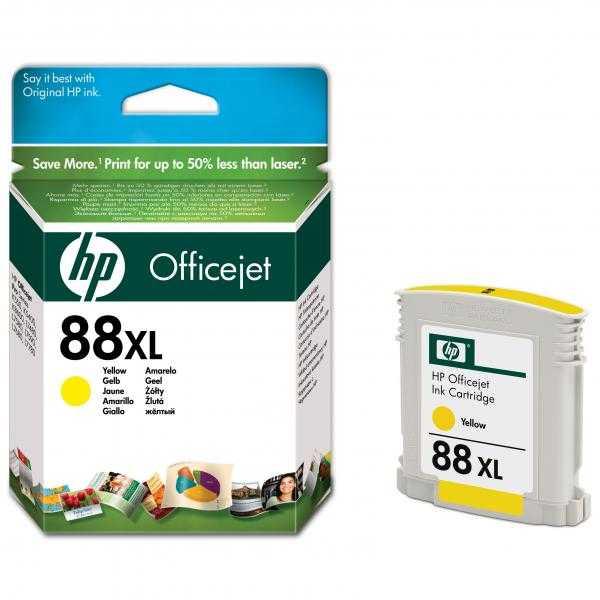 originální HP88 yellow C9393A cartridge žlutá inkoustová originální náplň pro tiskárnu HP OfficeJet Pro L7780