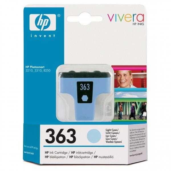 originální HP363 (C8774EE) light cyan cartridge světle azurová inkoustová originální náplň pro tiskárnu HP Photosmart 3300