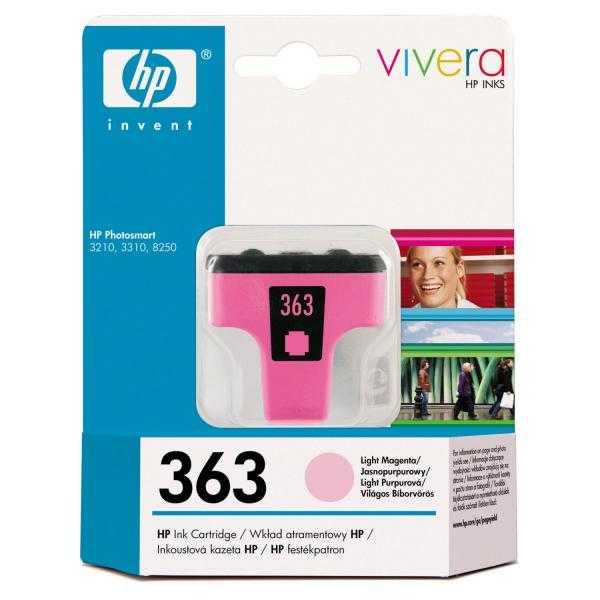 originální HP363 (C8775EE) light magenta cartridge světle purpurová inkoustová originální náplň pro tiskárnu HP Photosmart C5180