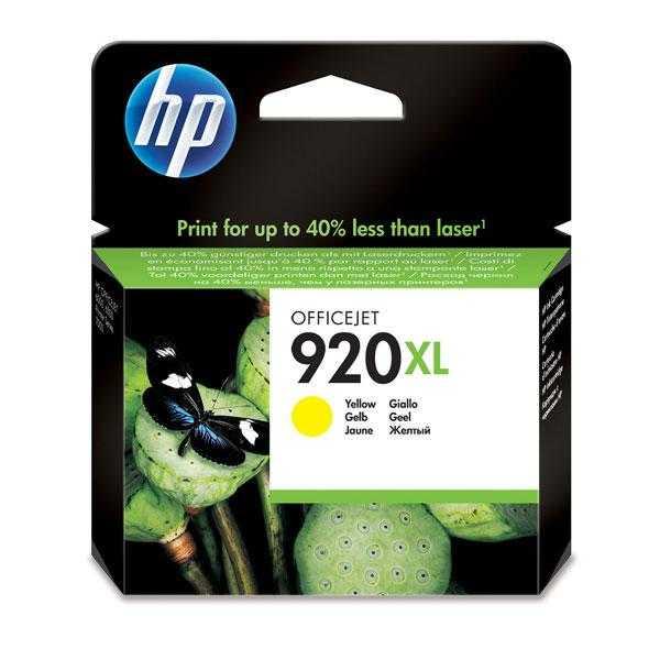 originální HP 920XL (CD974A) yellow žlutá originální inkoustová cartridge pro tiskárnu HP OfficeJet 6500a