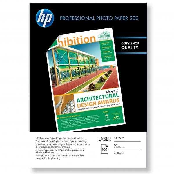 HP Professional Glossy Laser Photo Paper, foto papír, lesklý, bílý, A4, 200 g/m2, 100 ks, CG966A, laserový