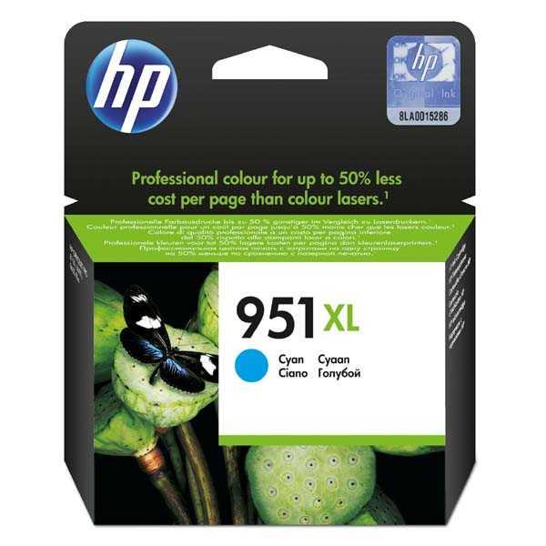 originální HP 951XL (CN046AE) cyan azurová modrá originální inkoustová cartridge pro tiskárnu HP OfficeJet Pro 8630