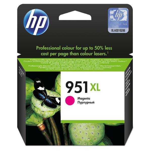 originální HP 951XL (CN047AE) magenta purpurová červená originální inkoustová cartridge pro tiskárnu HP OfficeJet Pro 8630