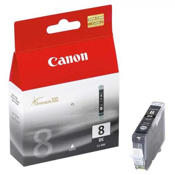 originální Canon CLI-8bk black cartridge černá foto s čipem originální inkoustová náplň pro tiskárnu Canon PIXMA MP970