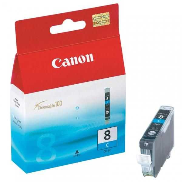 originální Canon CLI-8C cyan cartridge modrá s čipem originální inkoustová náplň pro tiskárnu Canon PIXMA MP600