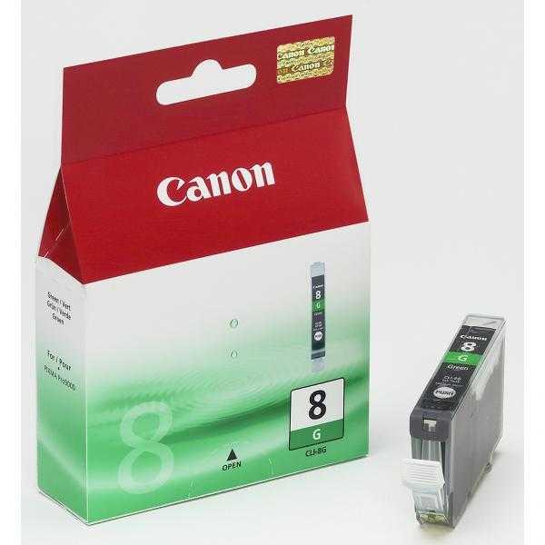 originální Canon CLI-8G green cartridge zelená s čipem originální inkoustová náplň pro tiskárnu Canon PIXMA Pro9000