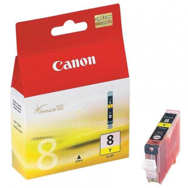 originální Canon CLI-8Y yellow cartridge žlutá s čipem originální inkoustová náplň pro tiskárnu Canon PIXMA MP600