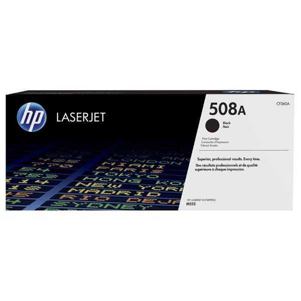 originální toner HP CF360A, HP 508A black černý toner pro tiskárnu HP LaserJet Enterprise M552dn