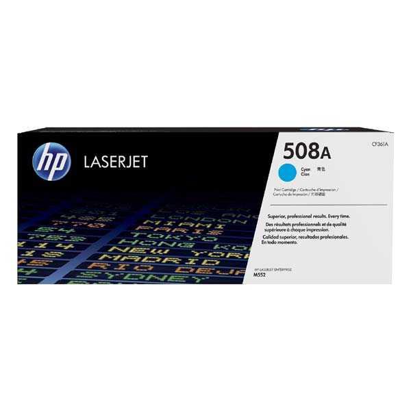 originální toner HP CF361A, HP 508A cyan modrý toner pro tiskárnu HP LaserJet Enterprise M552dn