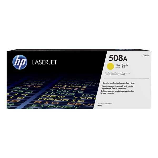 originální toner HP CF362A, HP 508A yellow žlutý toner pro tiskárnu HP LaserJet Enterprise M552dn