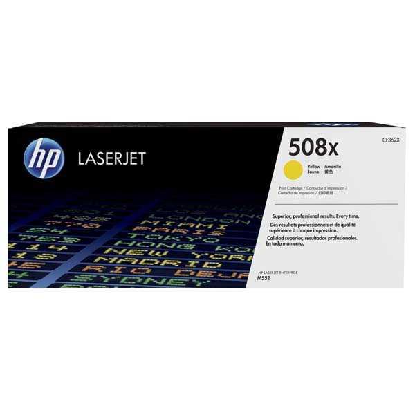 originální toner HP CF362X, HP 508X yellow žlutý toner pro tiskárnu HP LaserJet Enterprise M552dn