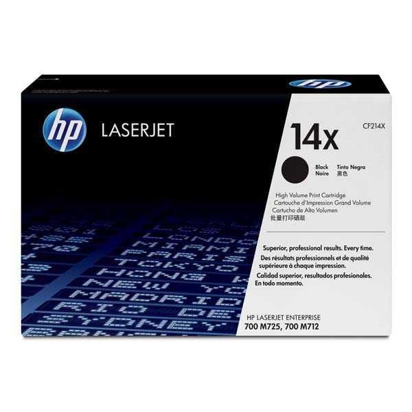 originální toner HP CF214X, HP 14X black černý toner pro tiskárnu HP LaserJet Enterprise M725dn MFP
