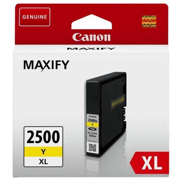originální Canon PGI-2500XL y yellow cartridge žlutá originální inkoustová náplň pro tiskárnu Canon Maxify MB 5350