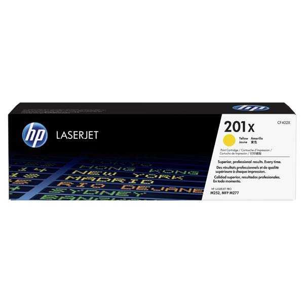 originální toner HP CF402X (HP 201X) 2300 stran yellow žlutý toner pro tiskárnu HP LaserJet Pro 200 Color MFP M277dw