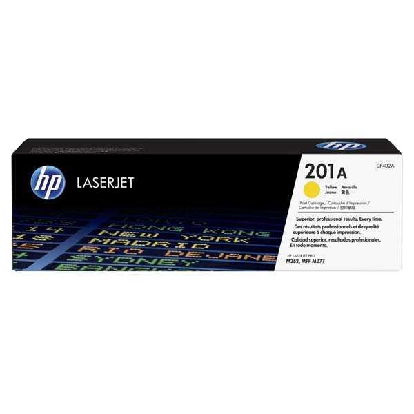 originální toner HP CF402A (HP 201A) 1400 stran yellow žlutý toner pro tiskárnu HP LaserJet Pro 200 Color MFP M277dw