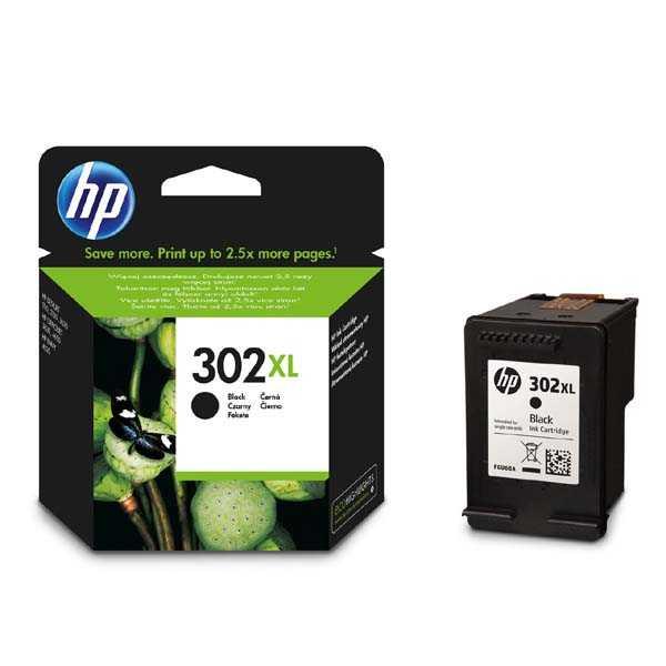 originální HP 302XL (F6U68AE) black černá inkoustová cartridge pro tiskárnu HP DeskJet 2130 All-in-One
