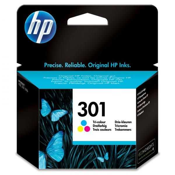 originální HP 301 (CH562EE) color barevná inkoustová cartridge pro tiskárnu HP Deskjet 3050 AIO