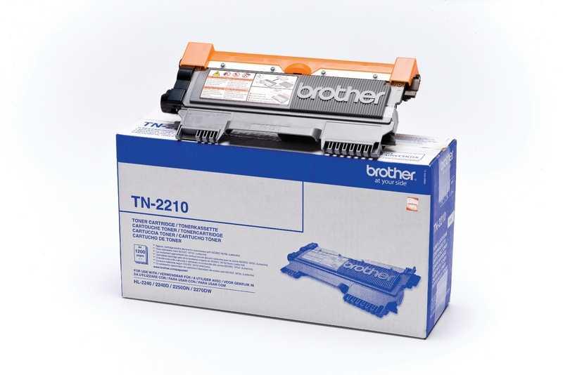 originál Brother TN-2210 black černý originální toner pro tiskárnu Brother DCP-7060