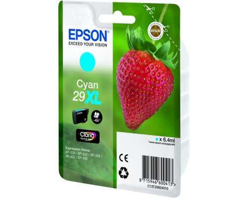 originální Epson T2992 T29XL cyan cartridge modrá azurová inkoustová náplň pro tiskárnu Epson Expression Home XP-332