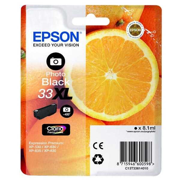 originální Epson 33XL T3361 black cartridge černá inkoustová náplň pro tiskárnu Epson Expression Premium XP-530