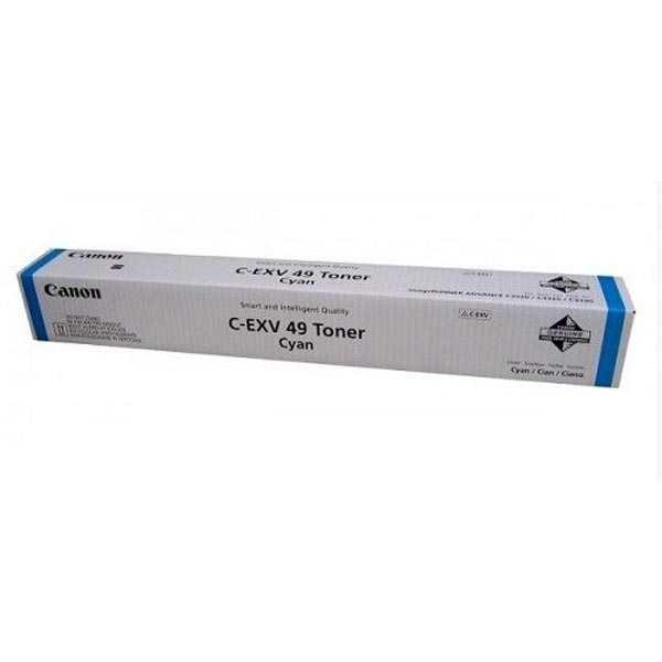 originální Canon C-EXV49-C (8525B002) cyan modrý toner do tiskárny Canon imageRUNNER C3300 Series