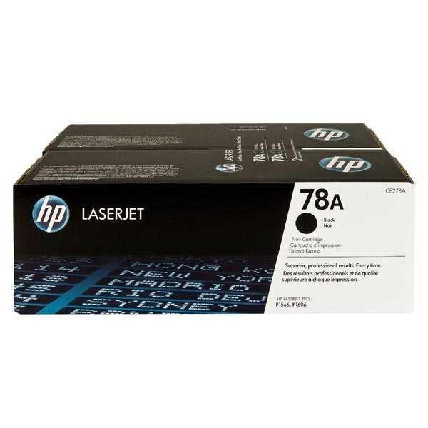 originální dual pack HP 78A (CE278AD) black černý originální toner pro tiskárnu HP LaserJet P1606dn