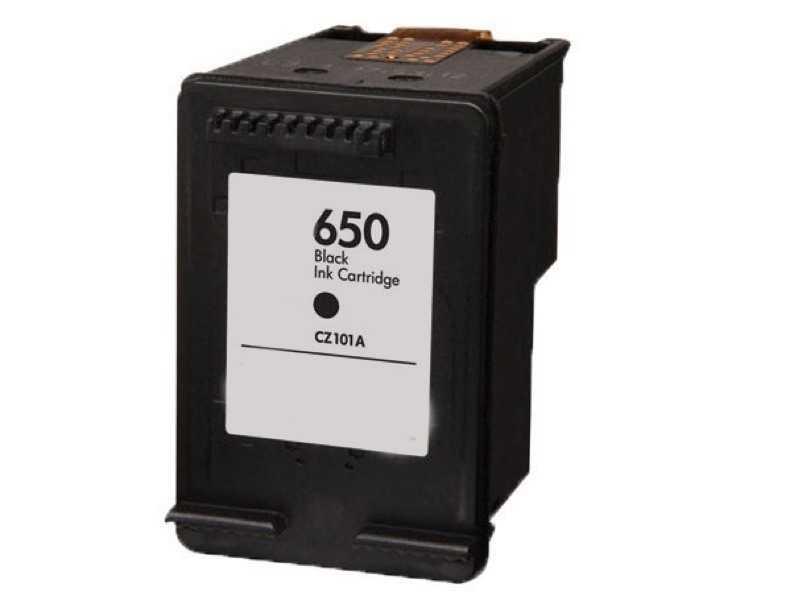 kompatibilní s HP 650 BK (CZ101AE) black černá inkoustová cartridge pro tiskárnu HP DeskJet Ink Advantage 1015