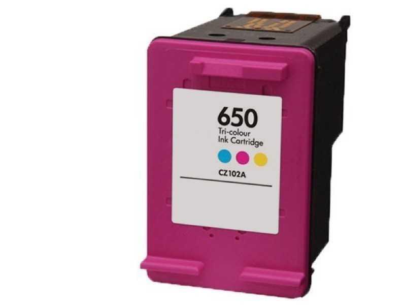 kompatibilní s HP 650 Color (CZ102AE) barevná kompatibilní inkoustová cartridge pro tiskárnu HP DeskJet Ink Advantage 1015