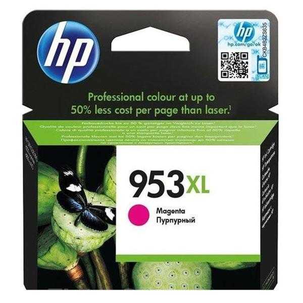 originální HP 953XL (F6U17AE) magenta purpurová červená originální inkoustová cartridge pro tiskárnu HP OfficeJet Pro 8630