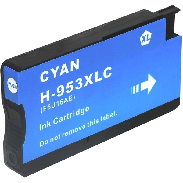 kompatibilní s HP 953XL (F6U16AE) cyan azurová modrá inkoustová cartridge pro tiskárnu HP OfficeJet Pro 8630