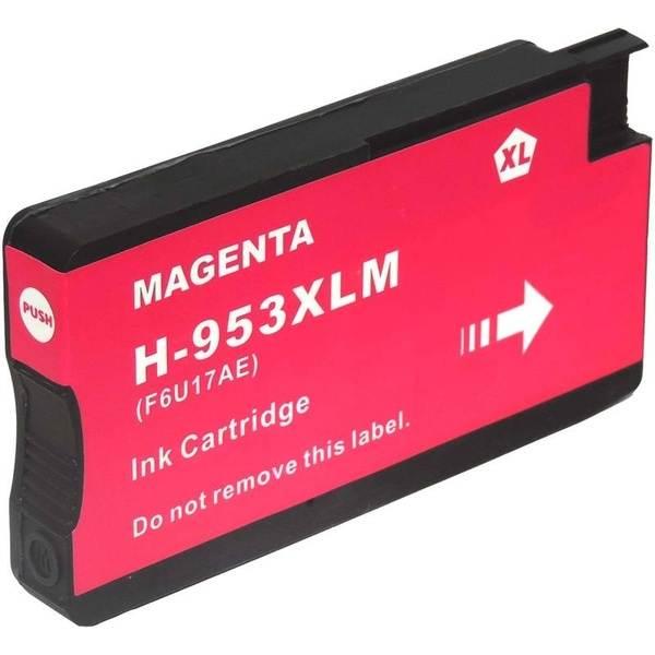kompatibilní s HP 953XL (F6U17AE) magenta purpurová červená inkoustová cartridge pro tiskárnu HP OfficeJet Pro 8630