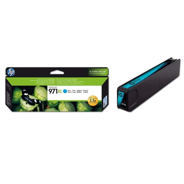 originální HP 971XL (CN626AE) cyan modrá originální inkoustová cartridge pro tiskárnu HP OfficeJet Pro X476dw
