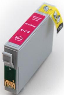 kompatibilní s Epson T0713 magenta purpurová cartridge, červená kompatibilní inkoustová náplň pro tiskárnu Epson Stylus SX105
