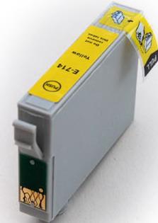 kompatibilní s Epson T0714 yellow cartridge žlutá kompatibilní inkoustová náplň pro tiskárnu Epson Stylus SX105