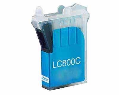 kompatibilní s Brother LC800C cyan modrá azurová inkoustová cartridge pro tiskárnu Brother MFC-3820CN
