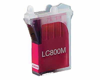kompatibilní s Brother LC800M magenta purpurová červená inkoustová cartridge pro tiskárnu Brother MFC-3820CN