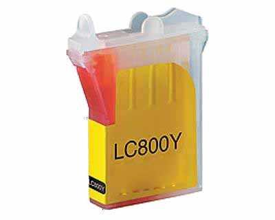 kompatibilní s Brother LC800Y yellow žlutá inkoustová cartridge pro tiskárnu Brother MFC-3820CN