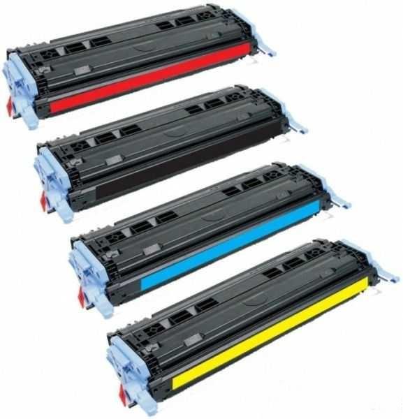 sada tonerů kompatibilní s HP 124A (HP Q6000A, Q6001A, Q6002A, Q6003A) 4x kompatibilní toner pro tiskárnu HP Color LaserJet CM1015 mfp