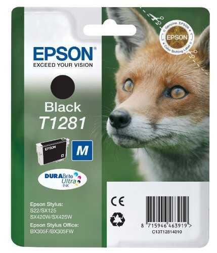 originální Epson T1281 black cartridge černá inkoustová náplň pro tiskárnu Epson Stylus SX435W