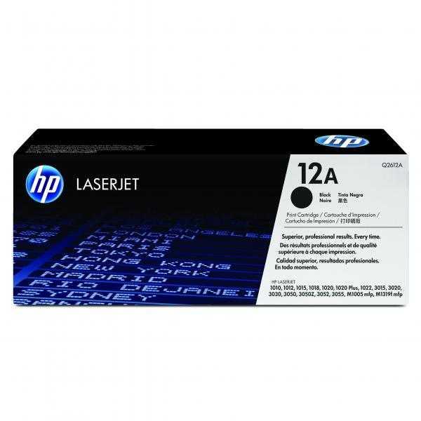 originální toner HP Q2612A černý toner pro tiskárnu HP LaserJet 1010