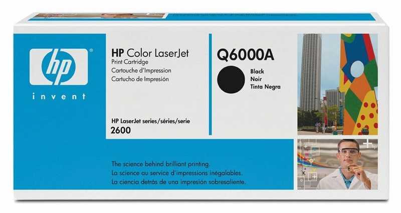 originál HP Q6000A černý originální toner pro tiskárnu HP Color LaserJet 1600