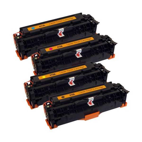 sada 4x kompatibilní toner s HP CE410X, CE411A, CE412A, CE413A (HP 305A) tonery pro tiskárnu HP LaserJet Pro 400 M475dw