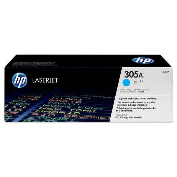 originální toner HP CE411A (HP 305A) cyan modrý azurový toner pro tiskárnu HP LaserJet Pro 400 M475dw