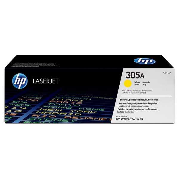 originální toner HP CE412A (HP 305A) yellow žlutý toner pro tiskárnu HP LaserJet Pro 400 M475dw