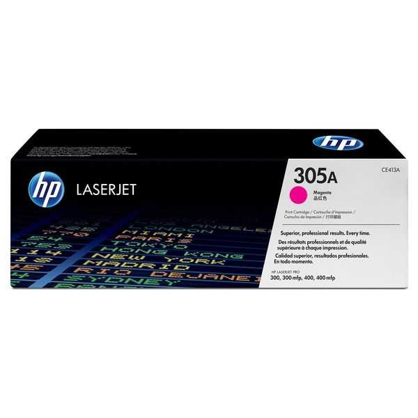originální toner HP CE413A (HP 305A) magenta purpurový červený toner pro tiskárnu HP LaserJet Pro 400 M475dw