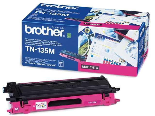 originál Brother TN-135M magenta purpurový originální toner pro tiskárnu Brother MFC-9440CN