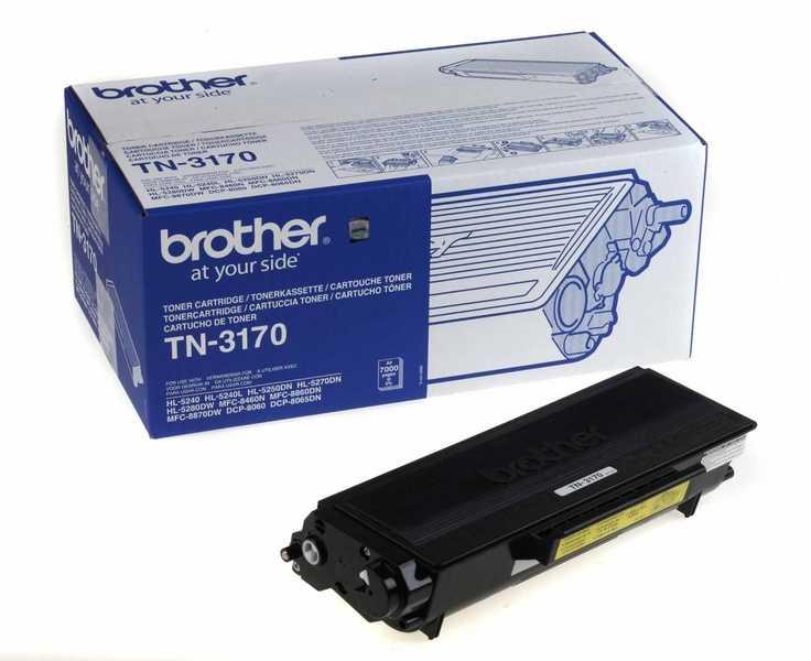 originál Brother TN-3170 black černý originální toner pro tiskárnu Brother MFC-8460N